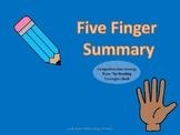 5 Finger Summary Poster