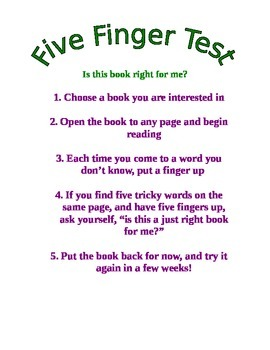 5 Finger Test reminders