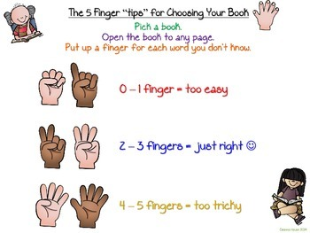 """5 Finger """"tips"""" to Choose Your Book ~ Posters and Bookmarks"""