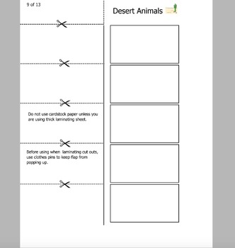 5 Flap Folding activity for Sorting Animals