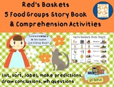 5 Food Groups Adapted Story Book + Comprehension Activities Set, Speech/Language