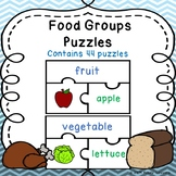 5 Food Groups Game Sorting Puzzles Healthy Eating and Nutrition Activity