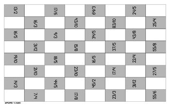5 Fraction Review Checkers Games