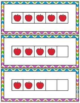 5 Frame Cards for Subitizing and Number Matching Game
