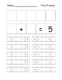 5 Frame Combinations of Five Recording sheet