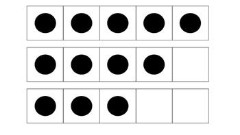 5 Frame Subitizing Flashcards