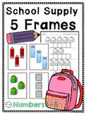 5 Frame Matching, Kindergarten Math Center