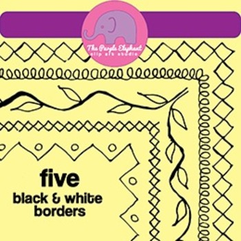 5 Free Borders - Clip Art - 8.5 x 11 Page