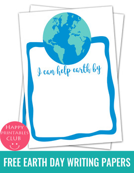5 Free Earth Day Writing Papers Template- Earth Day Writing Papers