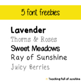 5 Free Fonts - Commercial use!