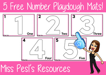 5 Free Number Playdough Mats