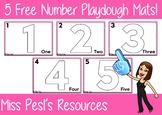 5 Free Number Playdough Mats