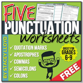 5 Free PUNCTUATION Worksheets