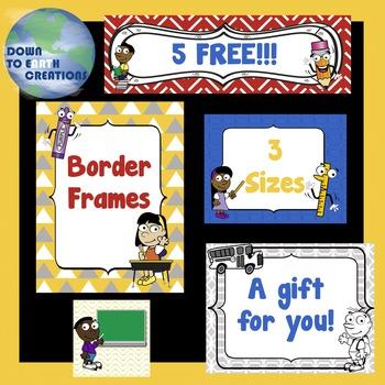 Free Back to School Border Frames
