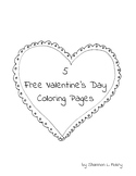 5 Free Valentine Coloring Pages