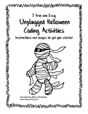 5 Free and Easy Halloween Coding Activities