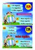 5 French posters avoir, etre, Er, IR, RE, vouloir, pouvoir