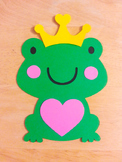 5 - Frog Prince Cut Outs (8 inches tall)