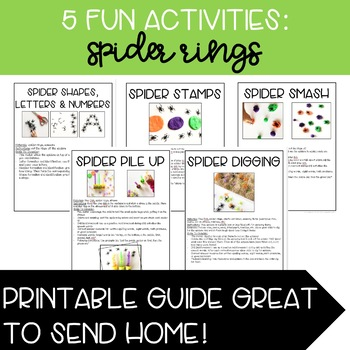 5 Fun Activities: Spider Rings for Speech and Language Therapy