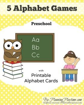 Alphabet Games for Letter Names and Sounds - FREE