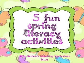 5 Fun Spring Literacy Activities/Centers.  CCVC, Digraphs, Blends, NWF, Rhyming