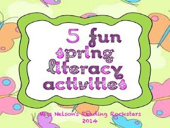 5 Fun Spring Literacy Activities/Centers.  CCVC, Digraphs,