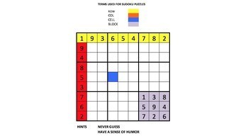 Fun with Sudoku Guy. (Gr 4-6 LESSON 5): TMB, LCR, and RAM puzzles.