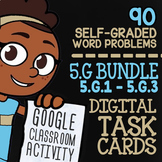 5.G.1-5.G.4 Self-Graded Google Classroom Geometry Activities | 5th Grade Bundle