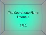 5.G.1 The Coordinate Plane Introduction (Google Slides)