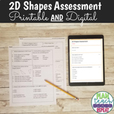 5.G.3 & 5.G.4 (2D Shapes) Assessment