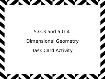 5.G.3 & 5.G.4 Geometry Task Cards