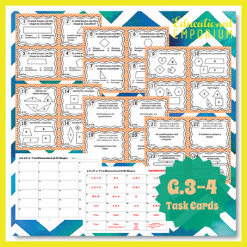 5.G.3 Task Cards 5.G.4 ⭐ Shapes Task Cards