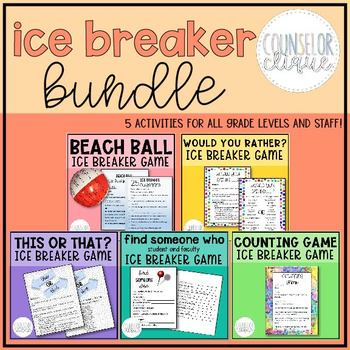 5 Game Ice Breaker Bundle (Save 20%!)