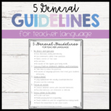 5 General Guidelines for Teacher Language