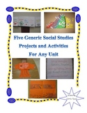 5 Generic Social Studies Projects for Any Upper Elementary Unit!