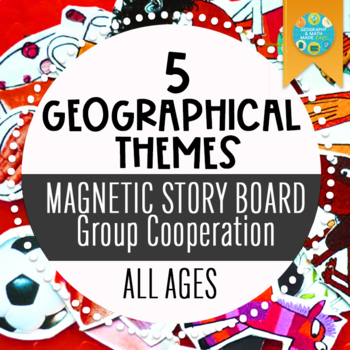 5 Geographical Themes Magnetic Story Board_Middle School Cooperative Activity