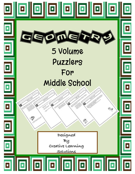 5 Geometry Volume Puzzlers for Middle School
