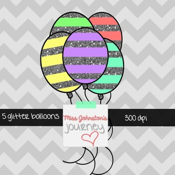 5 Glitter Balloons {Freebie}