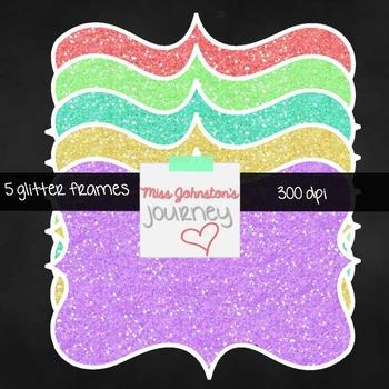 5 Glitter Bracket Frames {Freebie}