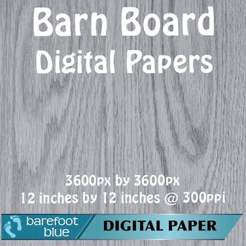 5 Gray Wood Barn Board Background Texture Digital Paper