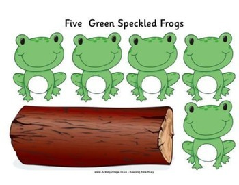 5 Green Frogs