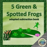 5 Green Frogs interactive subtraction book