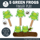 5 Green Speckled Frogs Finger Play including PDF Patterns