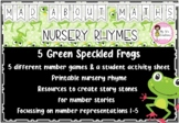 5 Green Speckled Frogs - Mad About Maths Resources