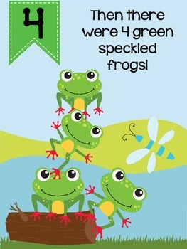 5 Green and Speckled Frogs