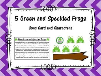 5 Green and Speckled Frogs- Song