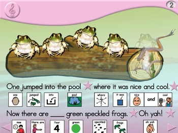 5 Green and Speckled Frogs - Animated Step-by-Step Song - PCS