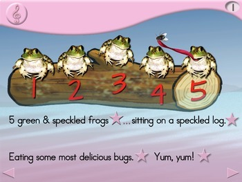 5 Green and Speckled Frogs - Animated Step-by-Step Song - Regular