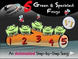 5 Green and Speckled Frogs - Animated Step-by-Step Song - VI