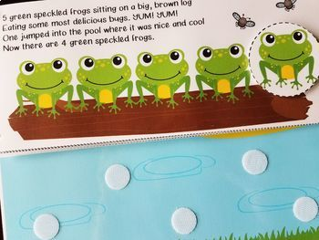 5 Green and Speckled Frogs Interactive Book